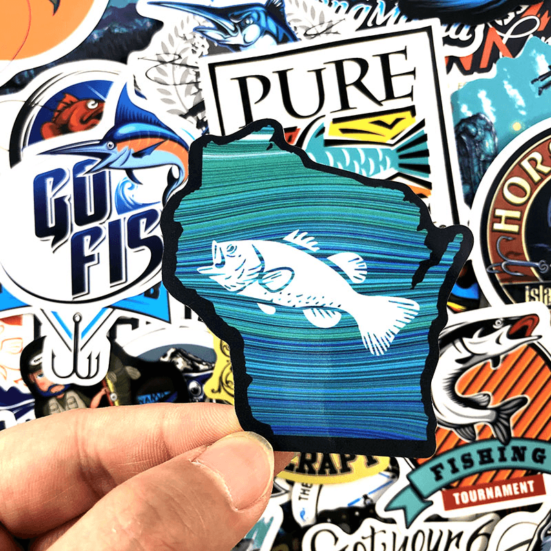 Go Fishing Stickers