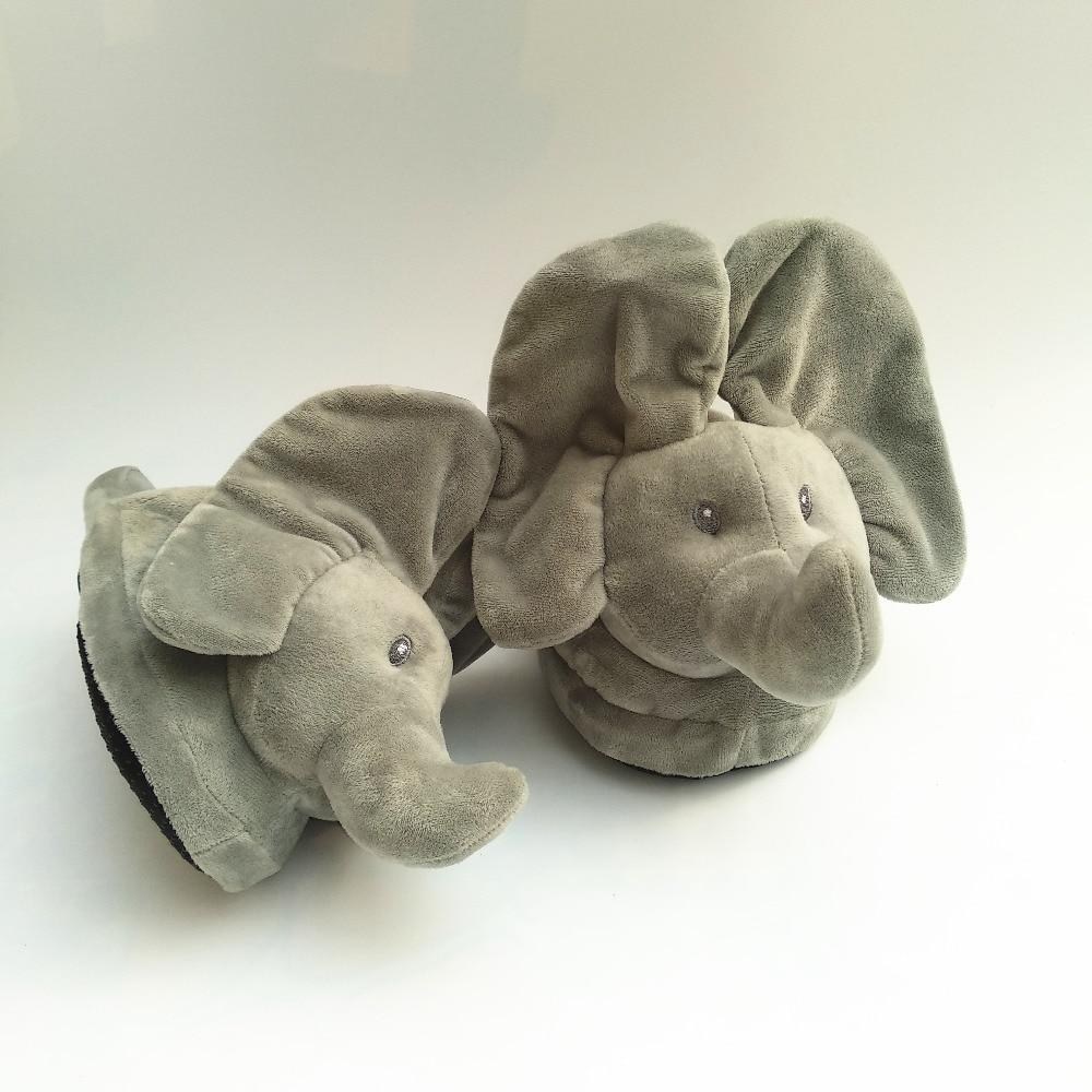 Elephant Peek A Boo Slippers