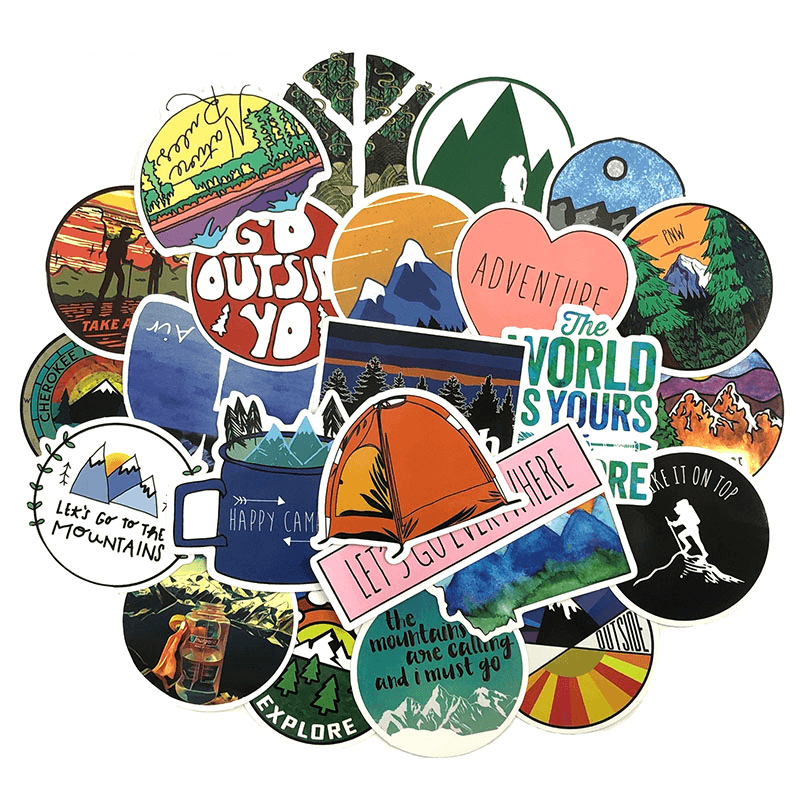 Hiking Stickers