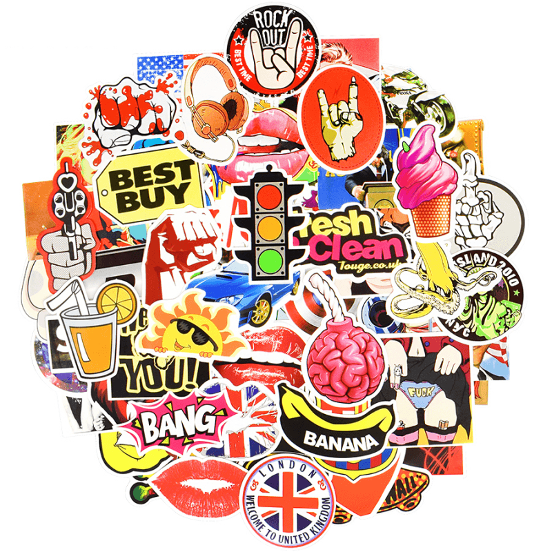 100 Pcs Mix Random Stickers