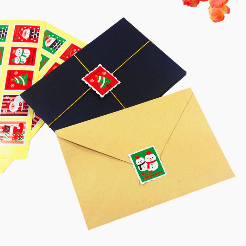 Christmas Stamp Seal Stickers