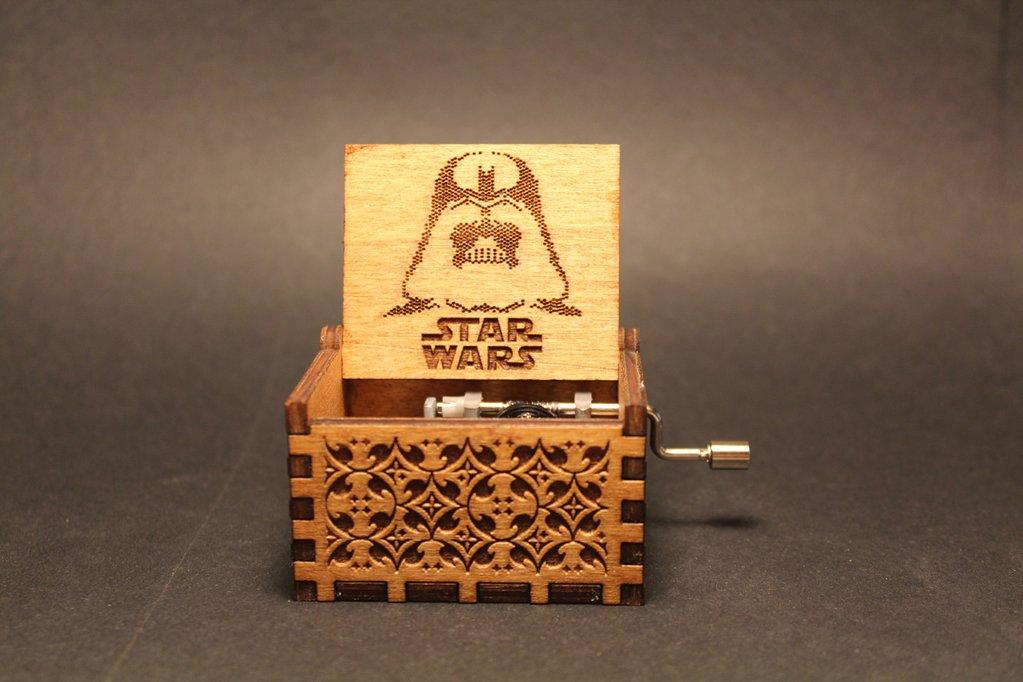 Engraved Wooden Star Wars Music Box