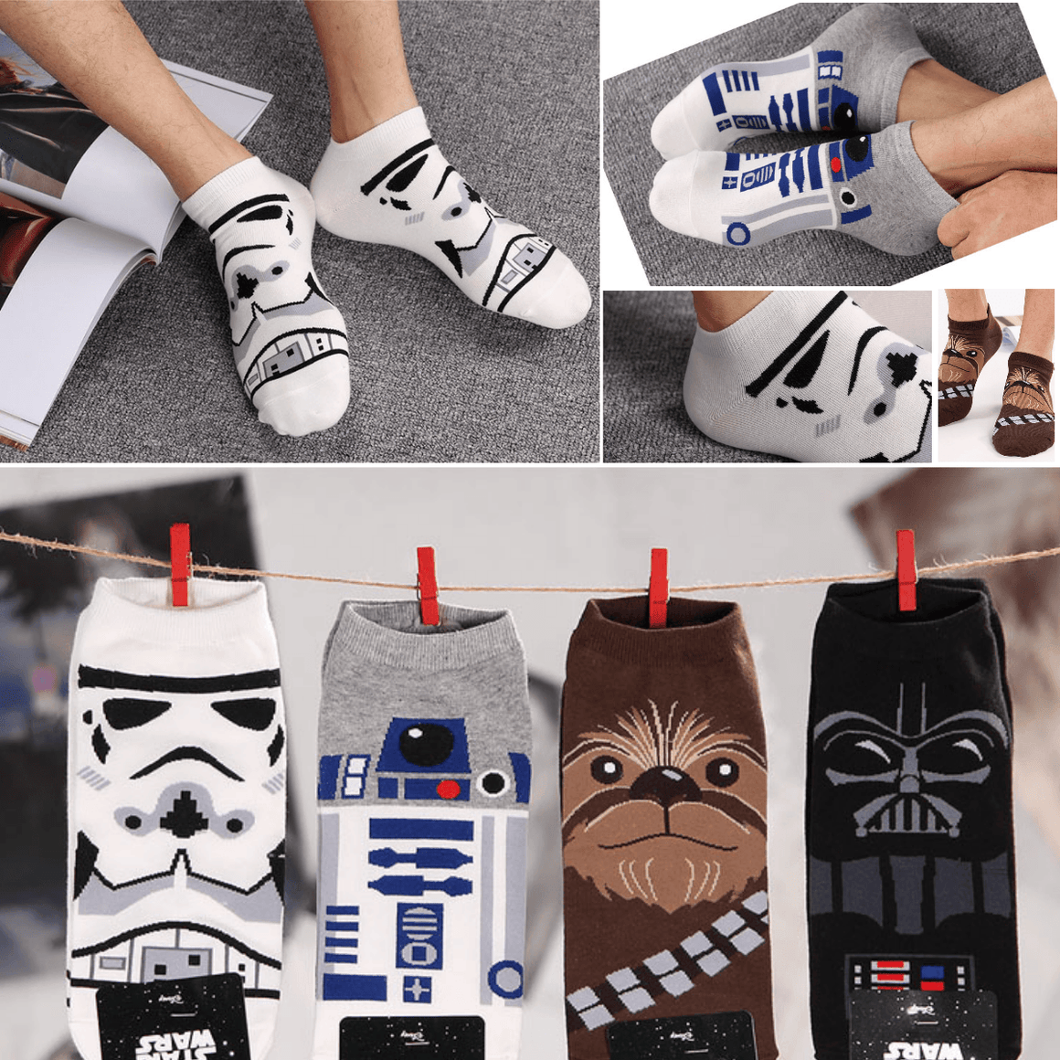 Star Wars Low Cut Socks