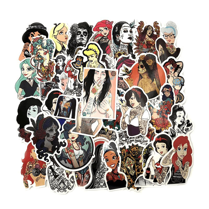 Tattoo Girls Stickers