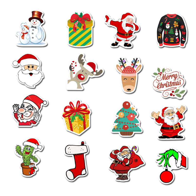 Merry Christmas And Happy New Year Stickers