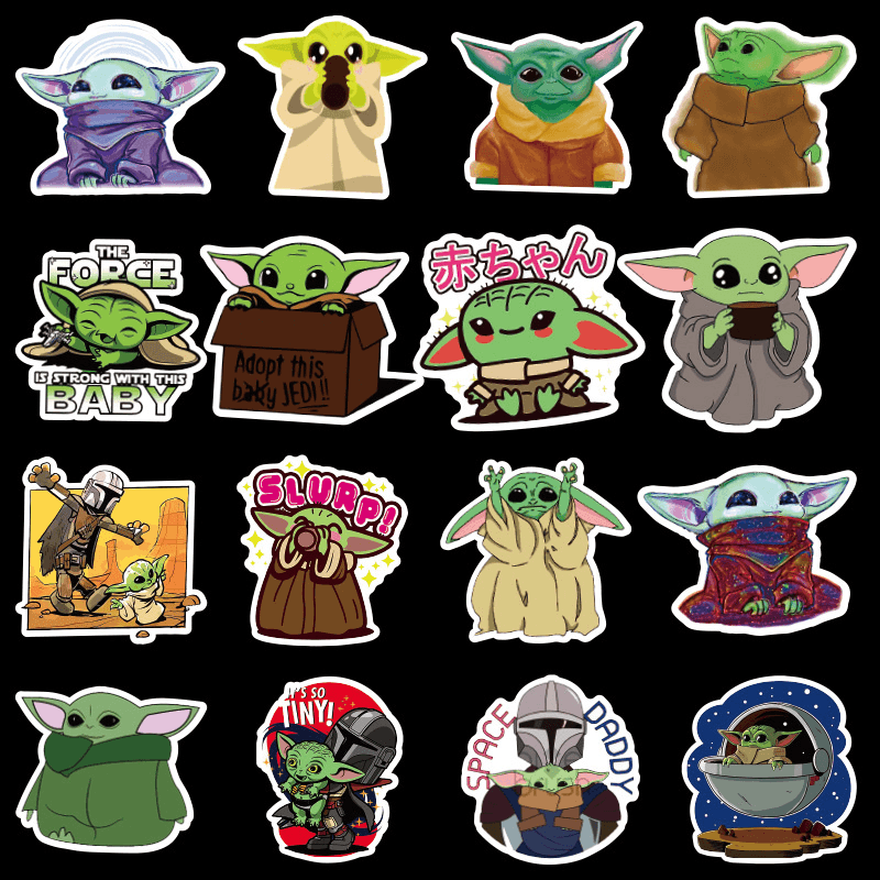 Baby Yoda Cool Stickers