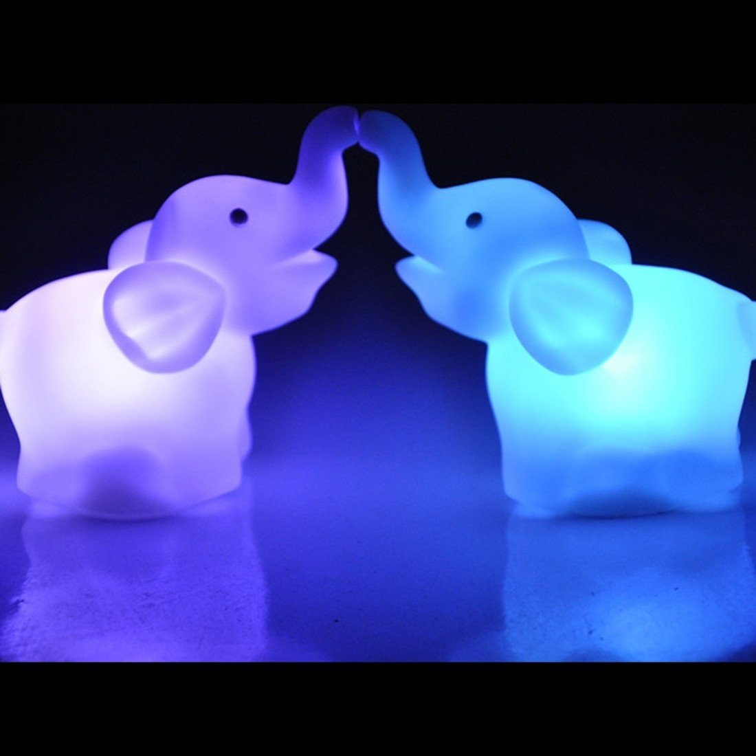 Elephant Color Changing Lamp Set 2Pcs