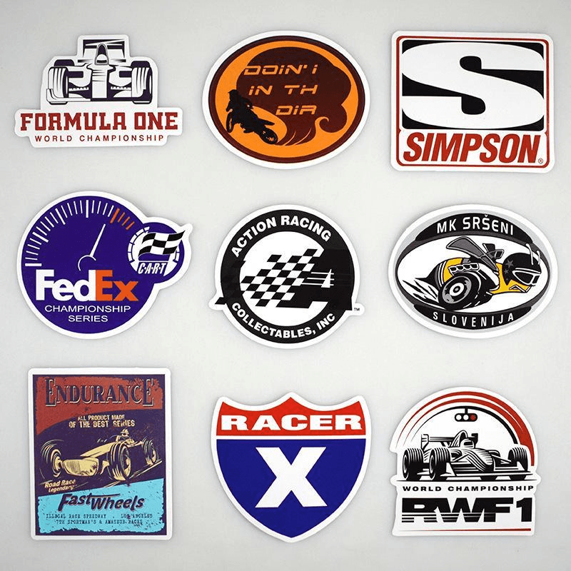 Fomula One Racing Stickers