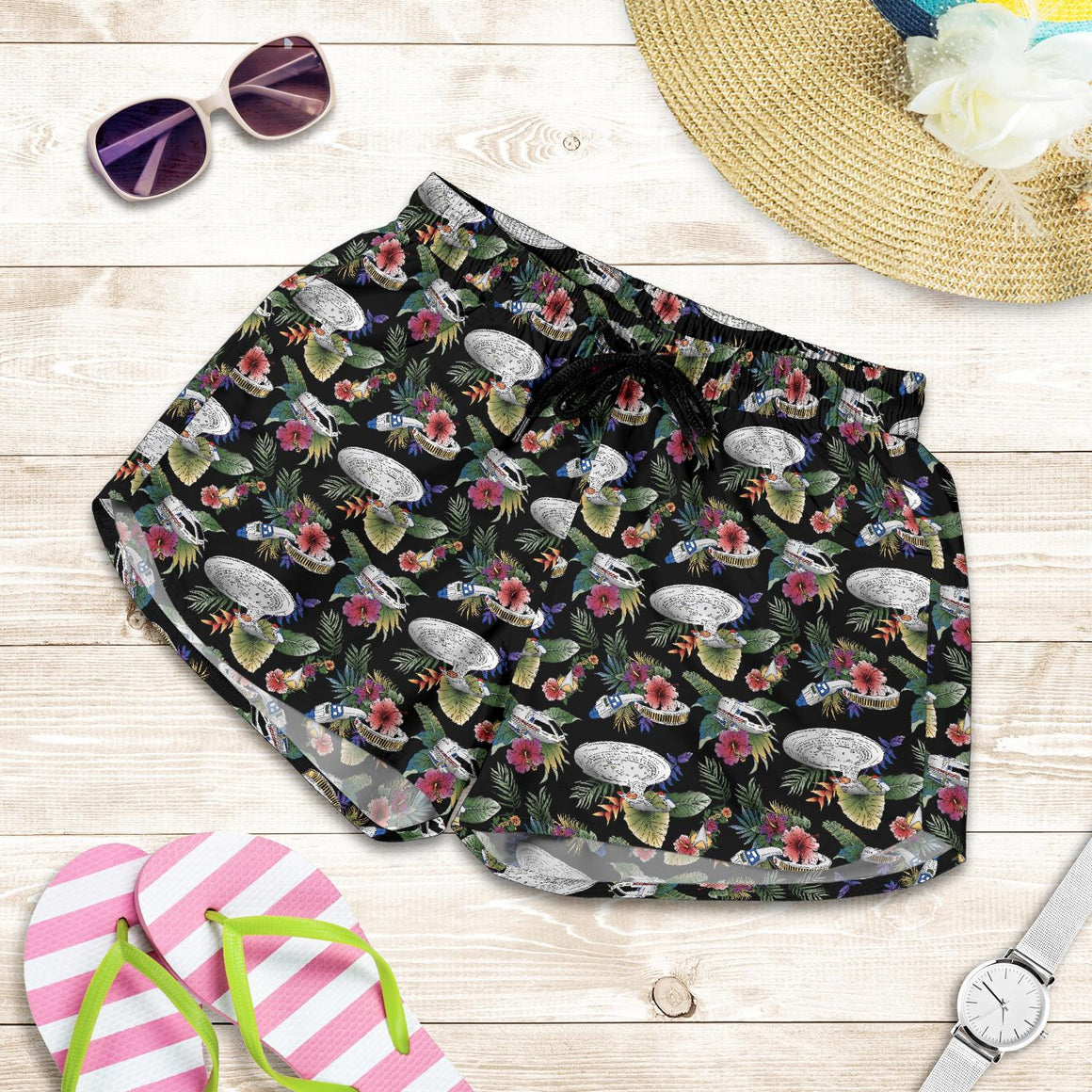 Star Wars Tropical Millennium Falcon Women's Shorts
