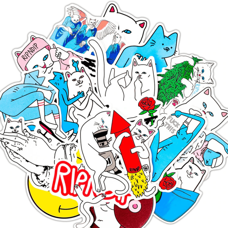 Ripndip Cat Stickers