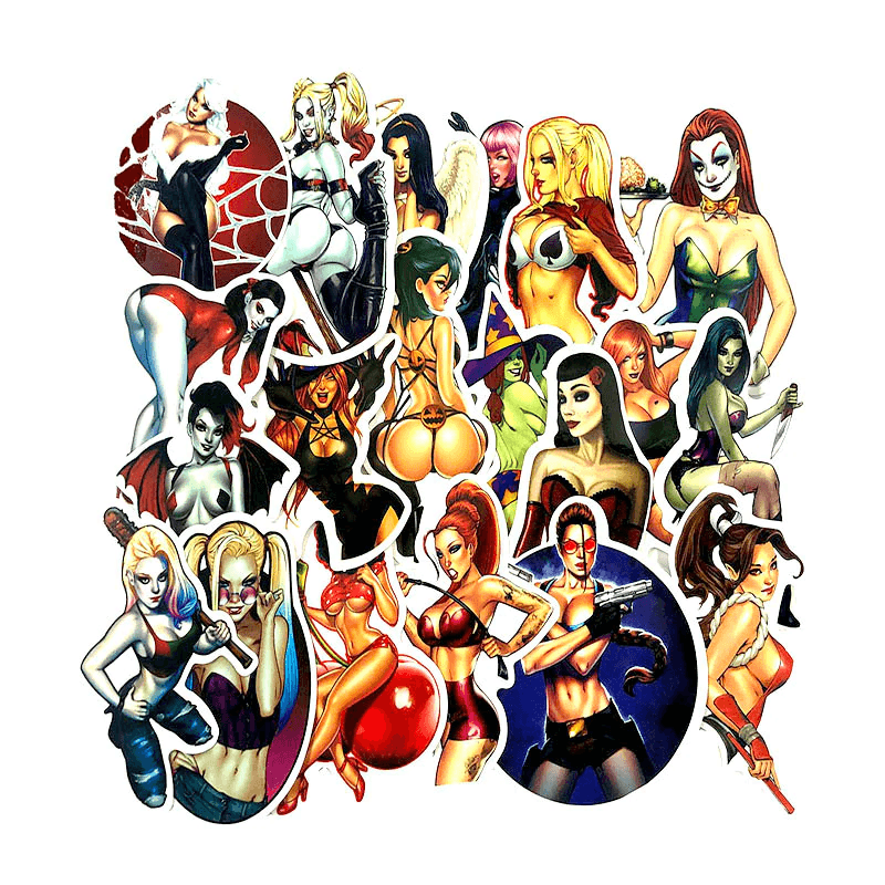 Horror Sexy Beauty Girls Stickers