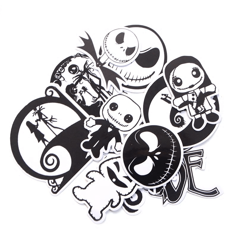 The Nightmare Before Christmas Stickers Set 12Pcs