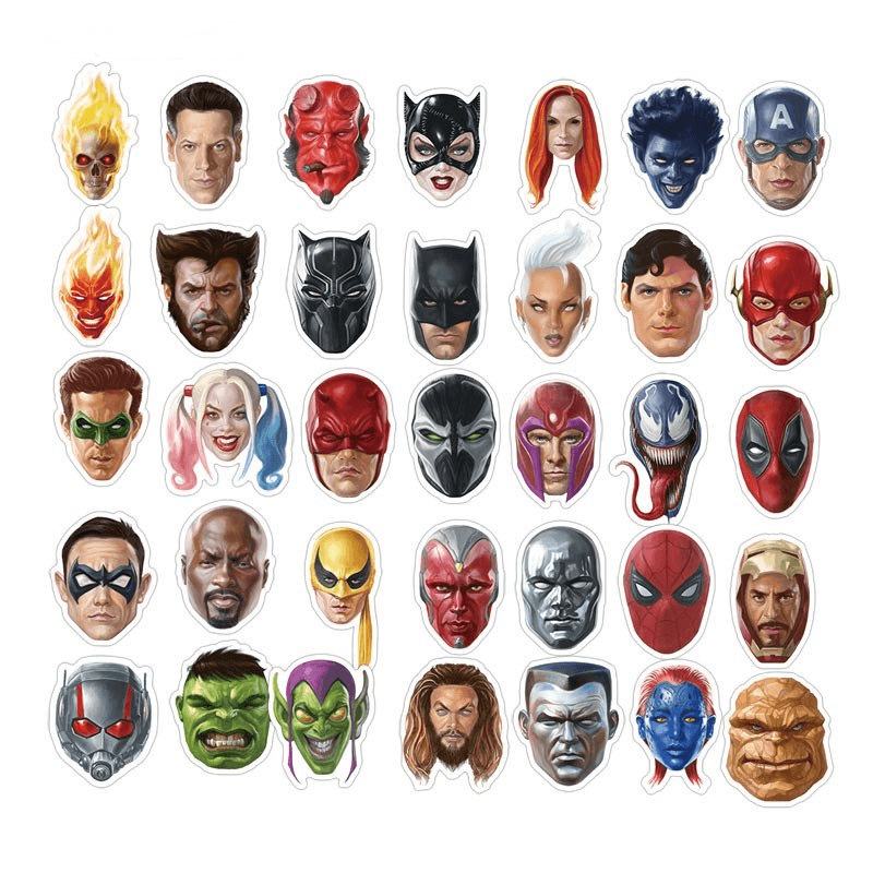 Marvel Head Stickers