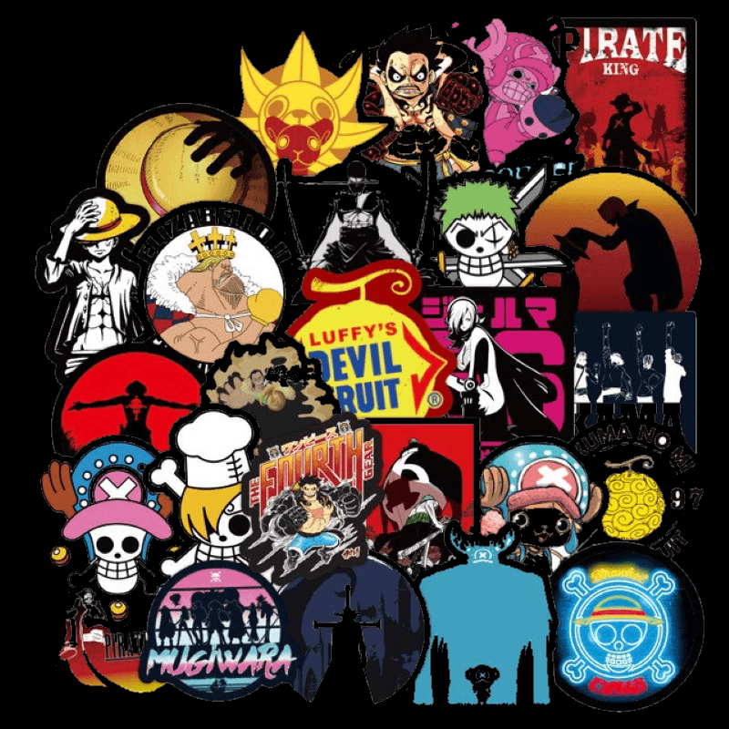 One Piece Cool Stickers