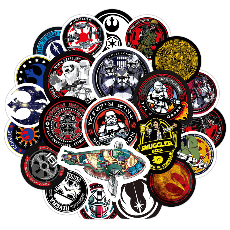 Star Wars Cool Circle Stickers