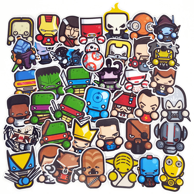 Star Wars & Marvel Cartoon Stickers