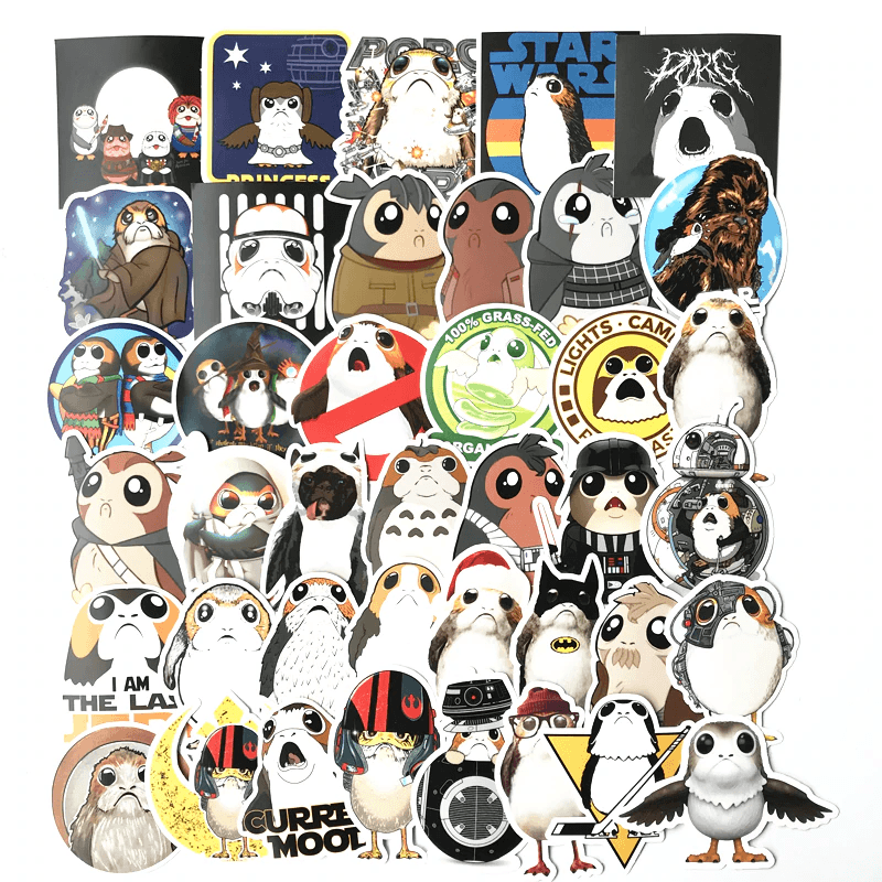 Star Wars Porg Stickers