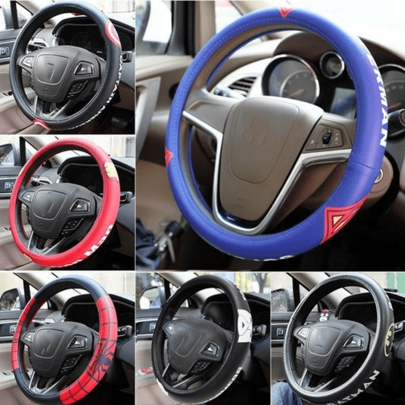 Superhero Car Steering Wheel Cover