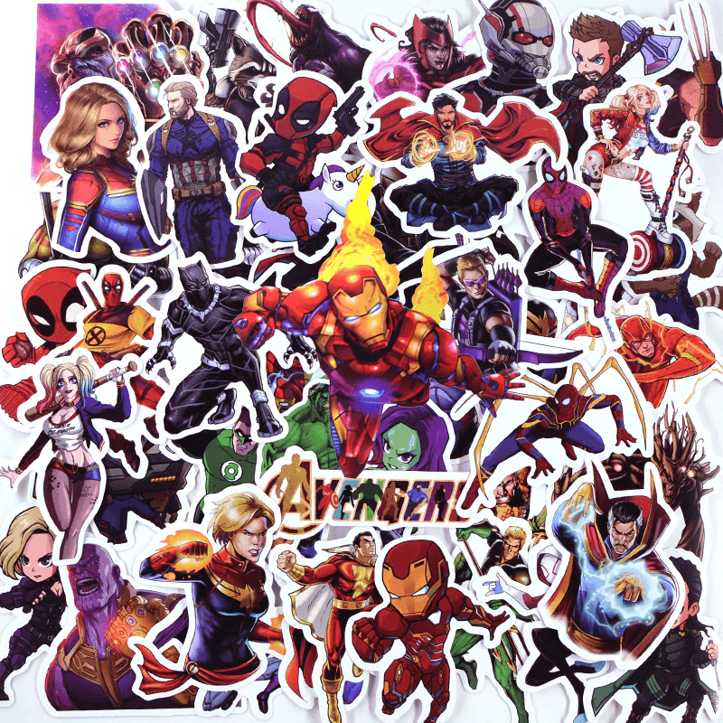Superhero Cartoon Stickers