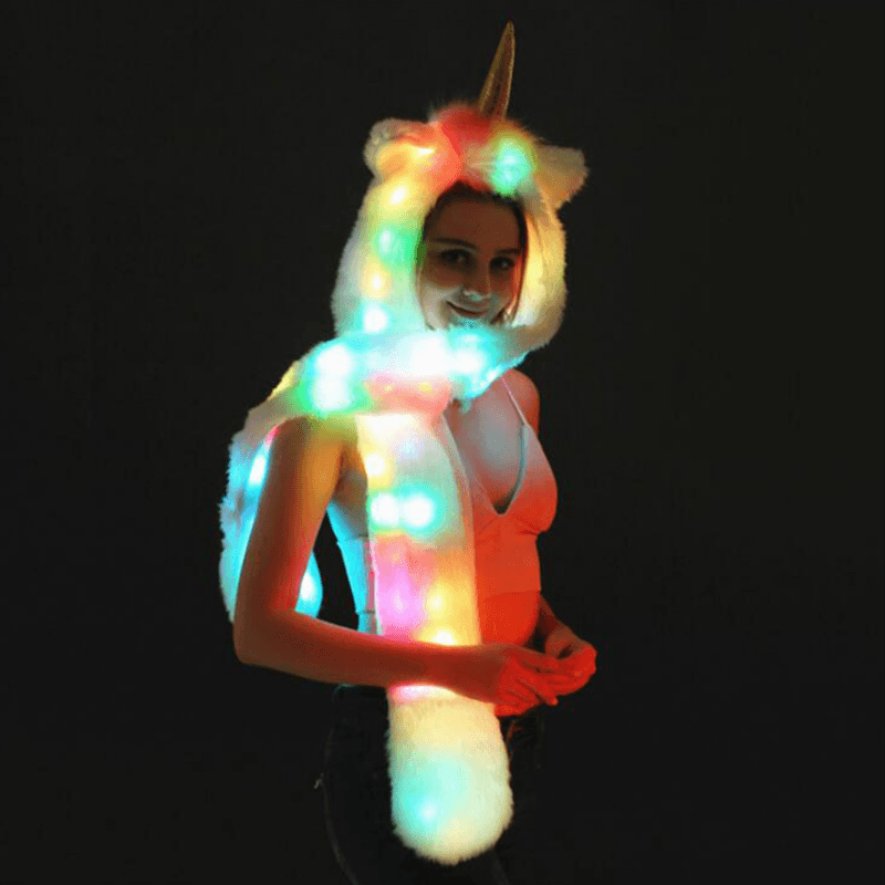 Unicorn LED Scarf Hat