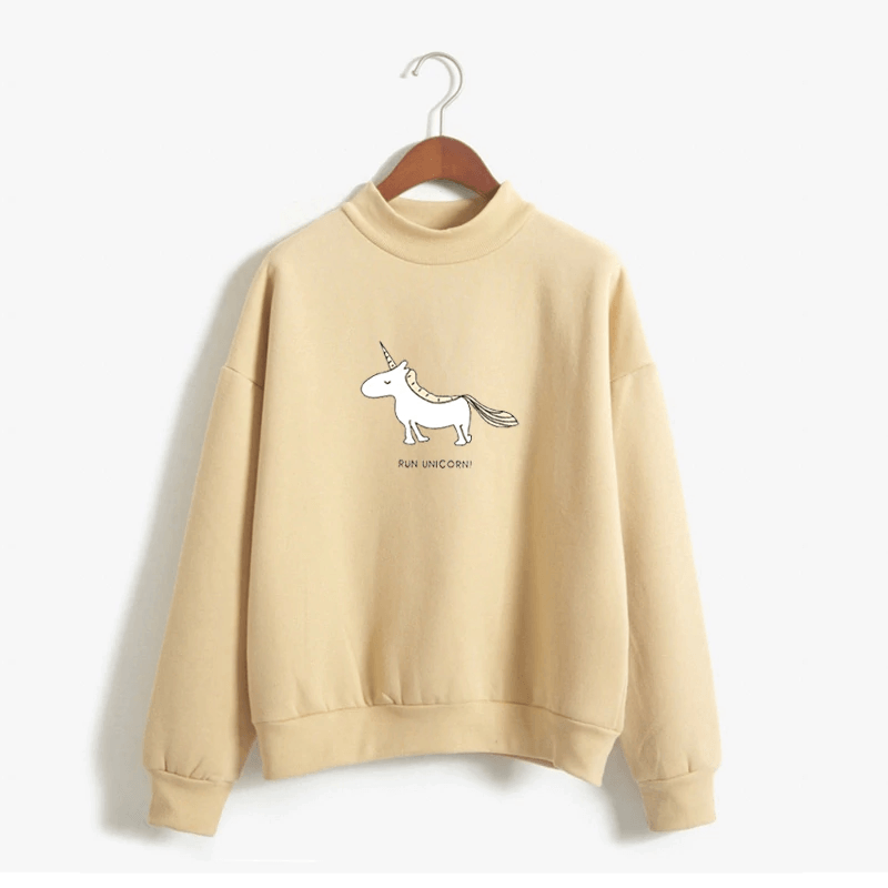 Unicorn Turtleneck Sweatshirt