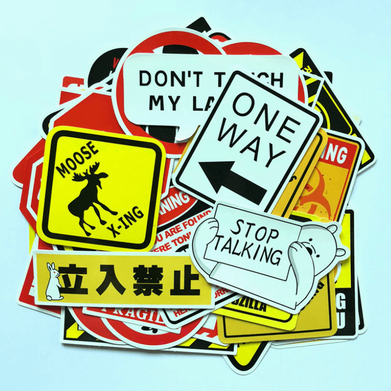 Warning Sign Stickers