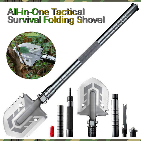All-in-One Tactical Survival Folding Shovel