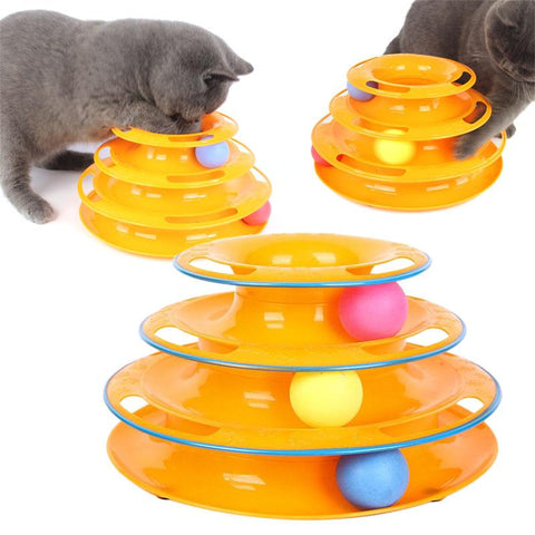 Roll-and-Catch™ 3-Level Tower Of Tracks Cats Toy