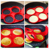 4 Holes Silicone Mold for Fried Eggs and Pancakes