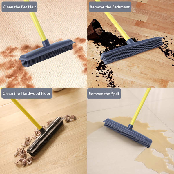 Perfectsweeper All In One Rubber Broom With Squeegee
