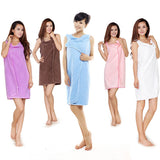 Cute Wearable Bath Towel Dress for Ladies