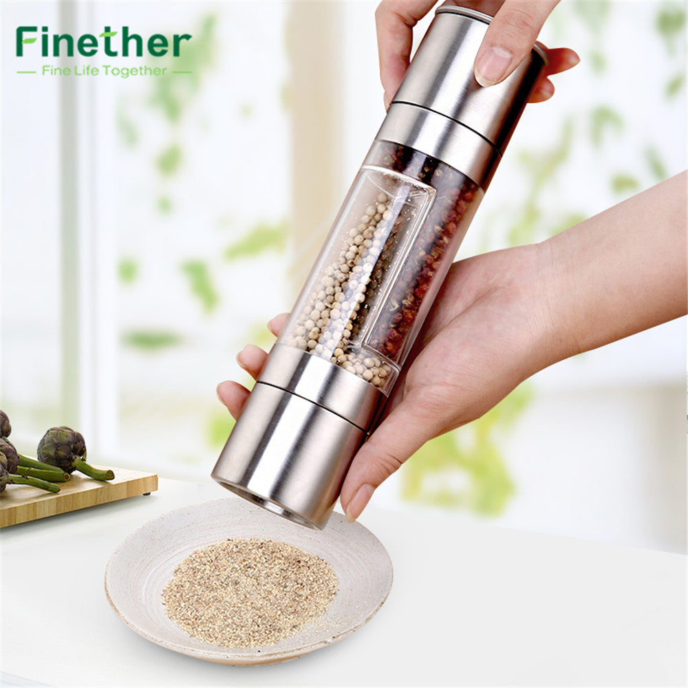 Finether 2-in-1 Pepper and Salt Grinder