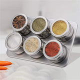 4/6/9 PCS Magnetic Spice Containers Set