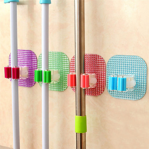 Wall Mounted Mop Holder for Kitchen/Bathroom