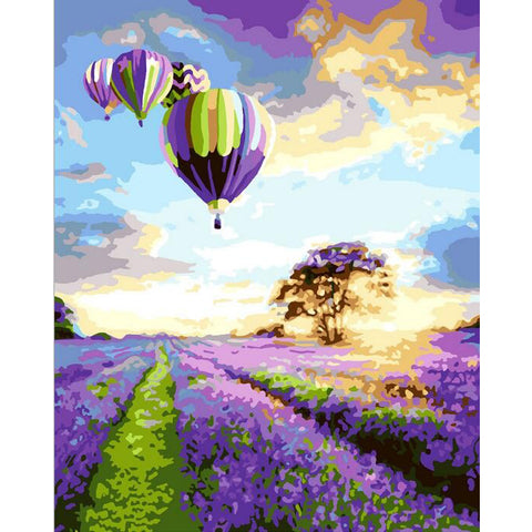 PaintGo™ Lavender Landscape - DIY Paint-By-Number Kit