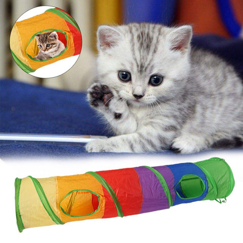 DizzyTunnels™ Foldable Pet Tunnel