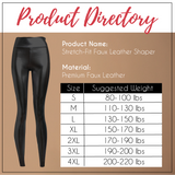 Sculpting Astetica™ High-Waisted Faux Leather Leggings