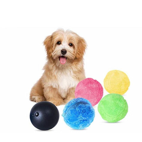 Interactive Robotic Pet Toy Ball With 4 Pouches
