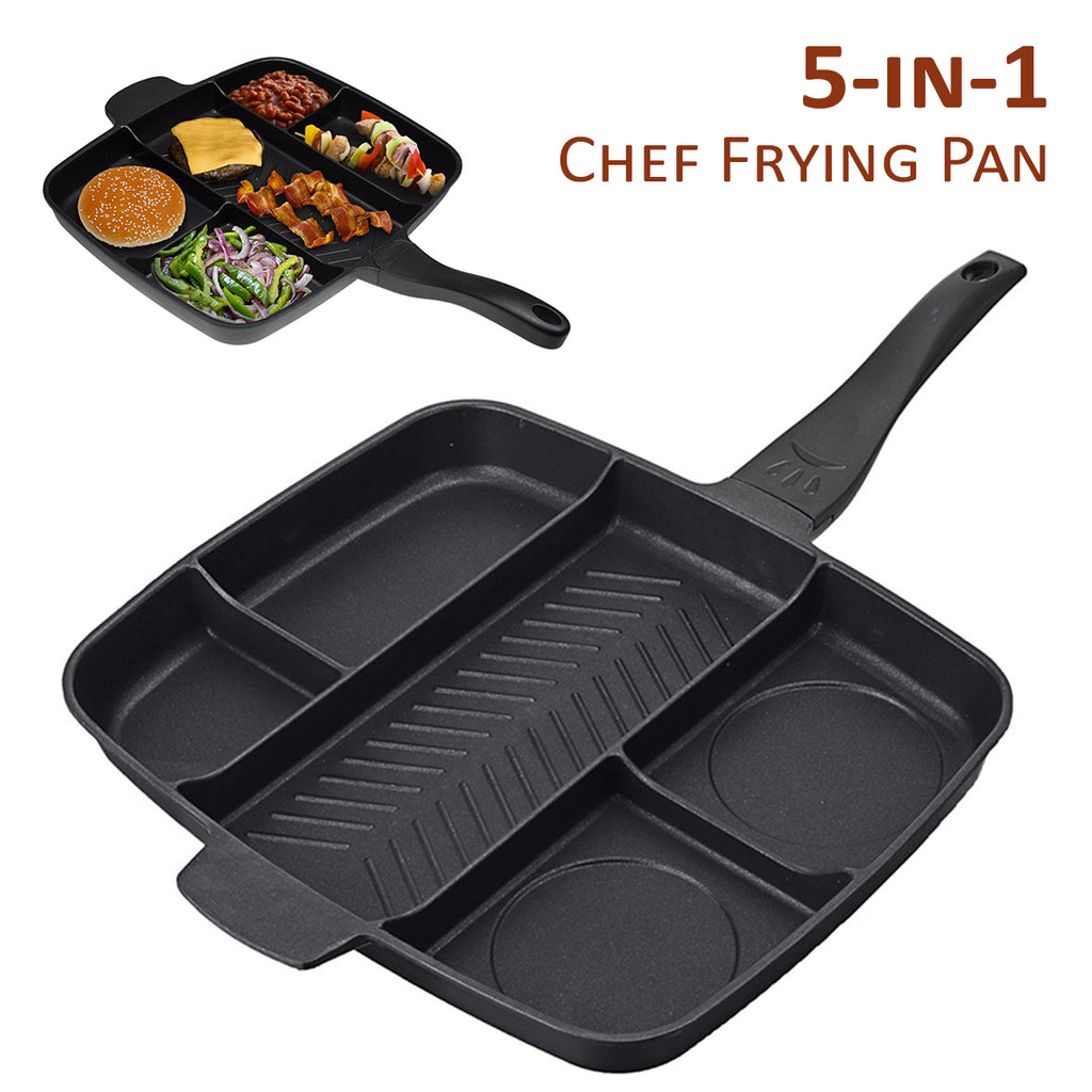 Chef 5-in-1 Frying Pan Divided Meal Skillet