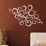 3D Mirror Creative Circle Wall Stickers