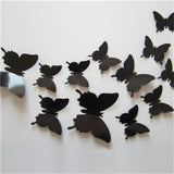 12 Pcs/Set 3D Flying Butterflies Wall Stickers