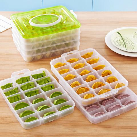 1-4 Layer Dumplings Freezer Storage Box