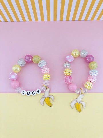 Going Bananas Charm Bracelet - Customizable