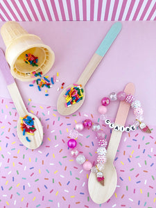 Ice Cream Charm Bracelet - Customizable