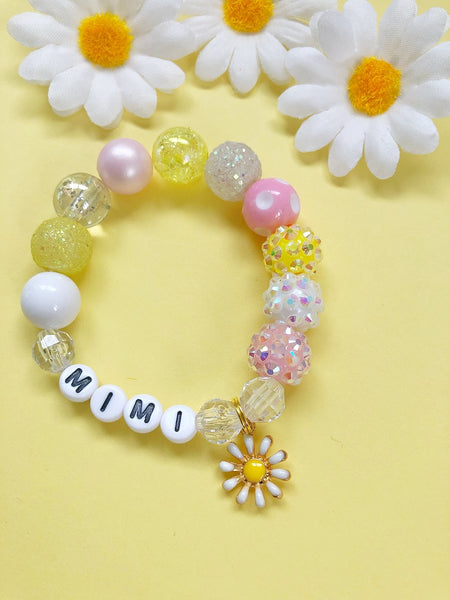Daisy Chain Charm Bracelet- Customizable