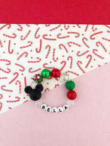 Christmas Mouse Bracelet - Customizable