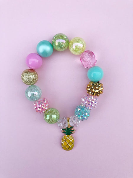 Pineapple Charm Bracelet - Customizable