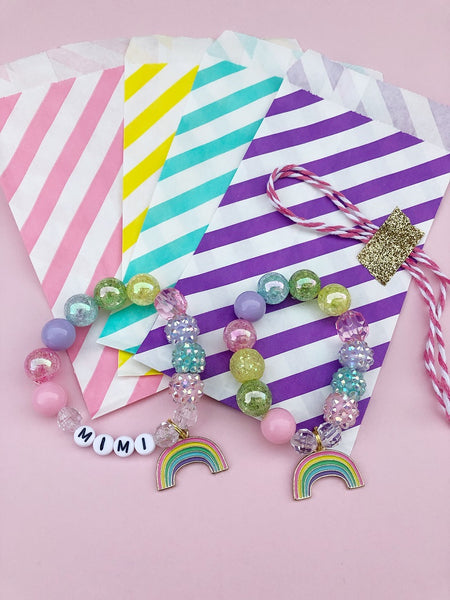 Happy Rainbow Charm Bracelet - Customizable