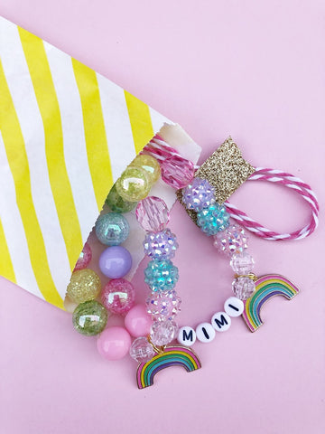 Happy Rainbow Charm Bracelet
