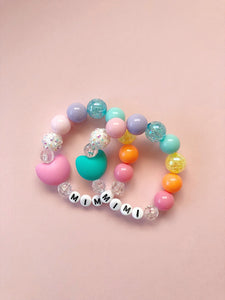 Rainbow Heart Bracelet - Personalized